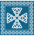 Celtic cross ornament symbolizes eternity vector image