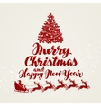 Christmas greeting card Beautiful handwritten vector image