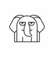cute elephant icon on white background vector image