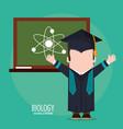 graduate student biology board class vector image