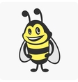 Little bee character vector image