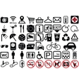 public icon set vector image