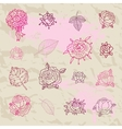 Rose doodles vector image