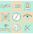 set of travel and camping icons vector image