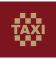 The taxi icon Cab and taxicab symbol Flat vector image