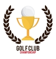 trophy and wreath icon Golf sport design vector image