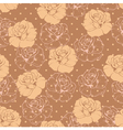 Seamless retro floral pattern with roses and dots vector image