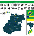 map of goias brazil vector image