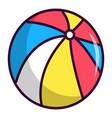 colorful circus ball icon cartoon style vector image