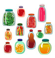 pickles icon set vector image