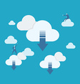 Cloud computing download vector image