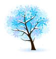 stylized winter fruit tree vector image vector image