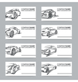 set of car business cards vector image vector image