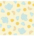 Breakfast tea pattern vector image