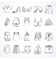 Fashion and clothing and accessories icons vector image
