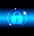 Internet security blue abstract background vector image