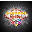on a casino theme with playing board vector image