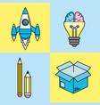 set creative process with ideas icons design vector image
