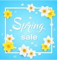 spring blue background vector image