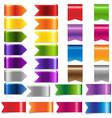 web ribbon set vector image