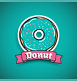 sweet mint donut advertising banner vector image