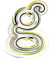 Organic Font letter g vector image