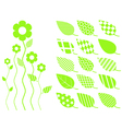 leaf elements vector image vector image