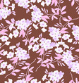 Seamless floral pattern with pink flowers vector image