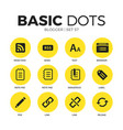 blogger flat icons set vector image