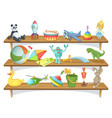 childrens store with funny cartoon vector image