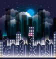 city scene at night vector image