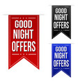 late night offer banner design set vector image
