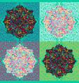 mandala pattern asian seamless pattern vector image