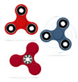 Rotating fidget spinners stress relieving toy 3d vector image
