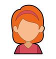 woman cartoon faceless vector image