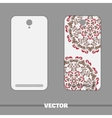 Phone With Ornament Red Berries vector image