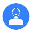 Bald head icon black Single avatarpeaople icon vector image