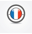 Label with france flag in rubber stamp vector image