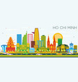 ho chi minh skyline with color buildings and blue vector image