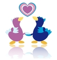 Cartoon ducks on white background vector image