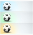 Set of light sports banner for a website to soccer vector image