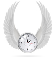 White clock White wings vector image