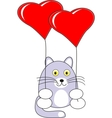 cartoon baby cat toy vector image