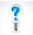 light bulb with question mark vector image vector image