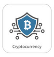 Bitcoin crypto currency icon vector image