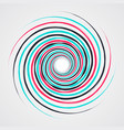color spiral swirl with brush vector image