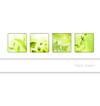 Eco frame collection vector image