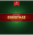 retro christmas ornament background vector image