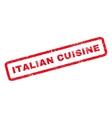 Italian Cuisine Rubber Stamp vector image