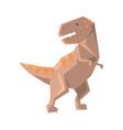 cartoon allosaurus dinosaur character jurassic vector image